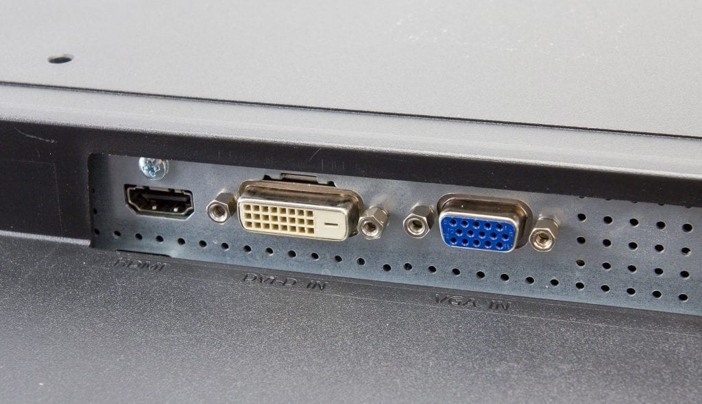 DVI or HDMI or VGAs